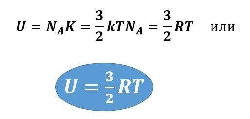 Формула внутренней энергии