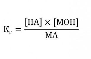 Константа гидролиза, формула и примеры