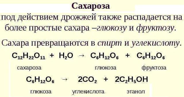 Гидролиз сахарозы, уравнения и примеры