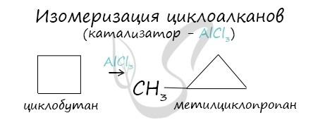 Физические и химические свойства циклоалканов
