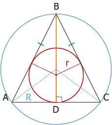 Основание равнобедренного треугольника, с примерами
