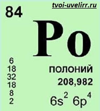 Полоний и его характеристики