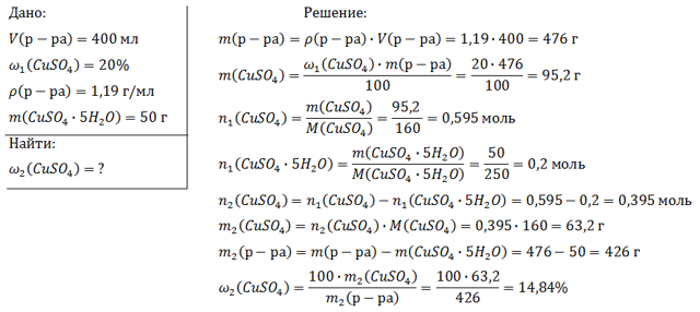 Формула молярной концентрации в химии