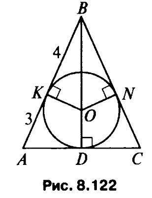 Свойства вписанной окружности, с примерами