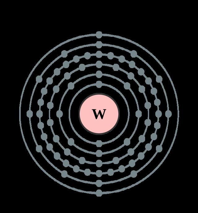 Строение атома вольфрама (w), схема и примеры