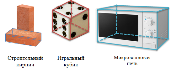 Свойства параллелепипеда, с примерами