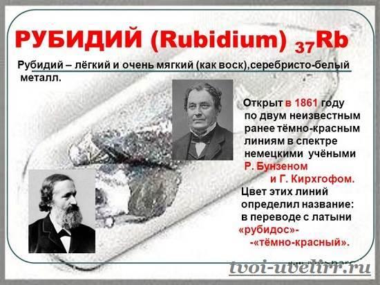 Рубидий и его характеристики